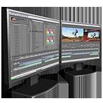 Dual display editing